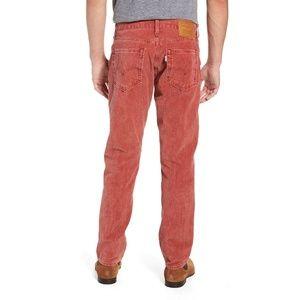 Levis 511 Slim Fit Warp Stretch Corduroy Jeans Red